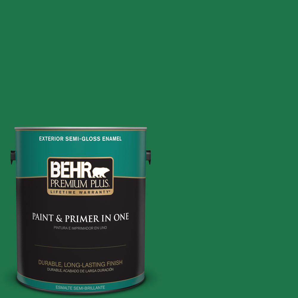 1-gal. #460B-7 Pine Grove Semi-Gloss Enamel Exterior Paint