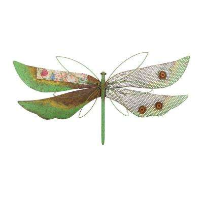 Rustic Wall Decor Dragonfly Green