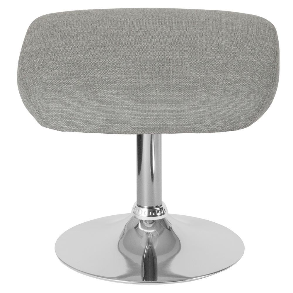 Miraculous Light Gray Fabric Ottoman Short Links Chair Design For Home Short Linksinfo