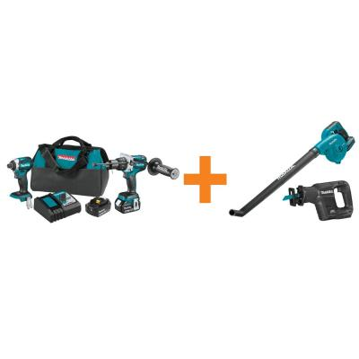 18-Volt LXT Brushless 2-Piece Combo Kit with Bonus 18-Volt LXT Brushless Recipro Saw and 18-Volt LXT Floor Blower