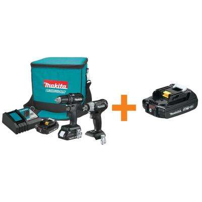 18-Volt LXT Lithium-Ion Sub-Compact Brushless Cordless 2-Piece Combo Kit with Bonus 2.0Ah Battery