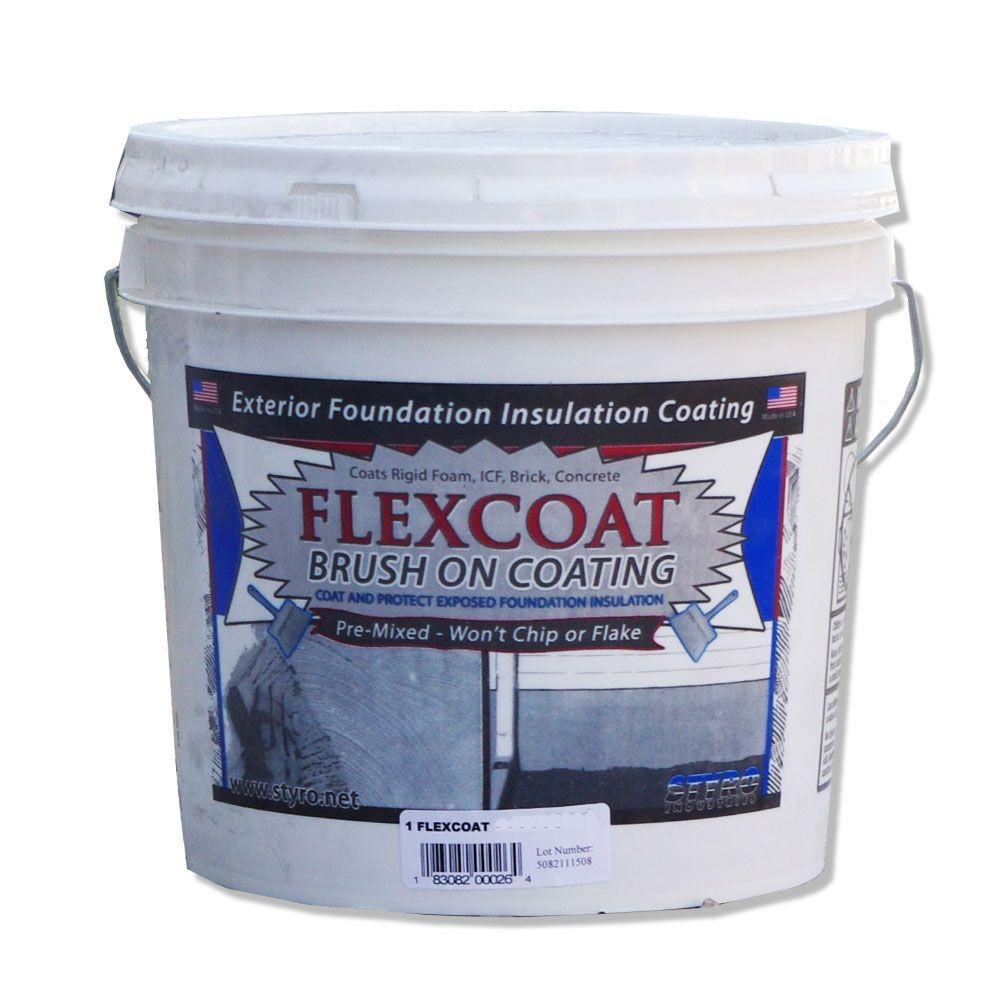 2 Gal Concrete Grey Flexcoat Brush On Foundation Coating