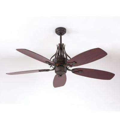 52 in. Oil Rubbed Bronze Ceiling Fan with 80 in. Lead Wire