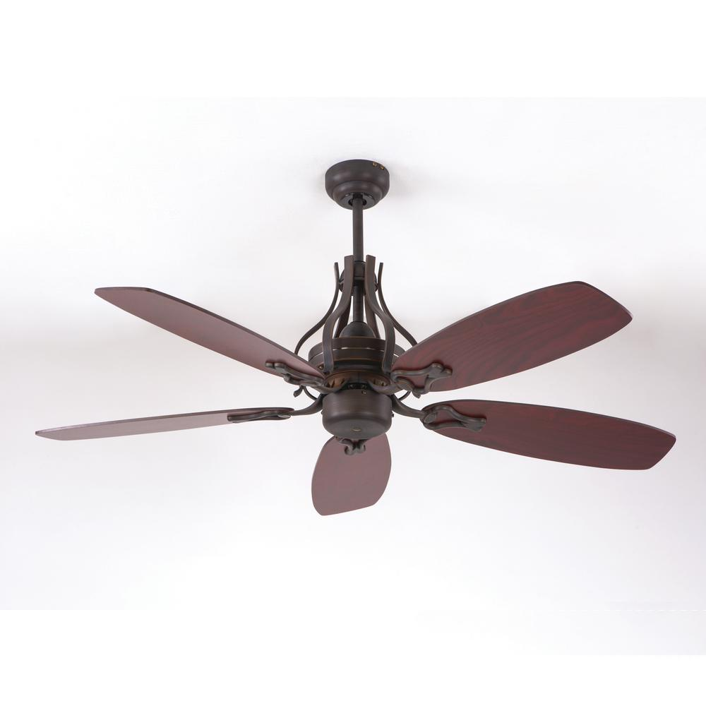 Perfect Yosemite Home Decor 52 In. Oil Rubbed Bronze Ceiling Fan With 80 In. Lead