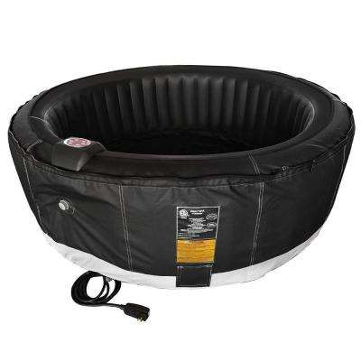 4-Person 130-Jet Inflatable Hot Tub with Zip Cover