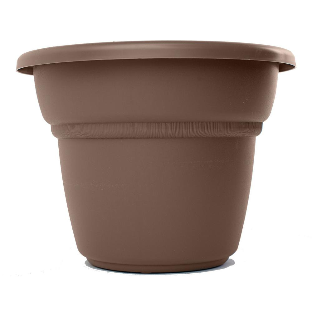 10 x 7.5 Chocolate Milano Plastic Planter
