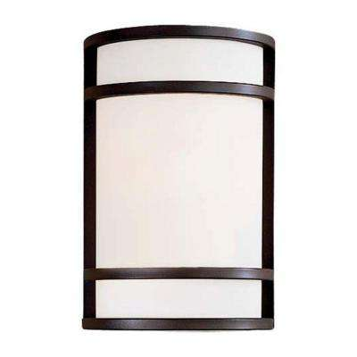 Bay View 2-Light Oil-Rubbed Bronze Outdoor Wall Lantern Sconce