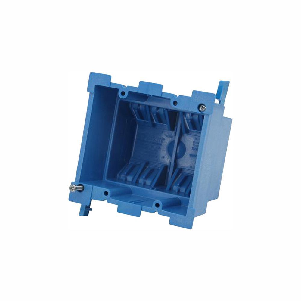 Carlon 2-Gang 34 cu. in. Old Work PVC Heavy Wall Electrical Box (Case of 18)
