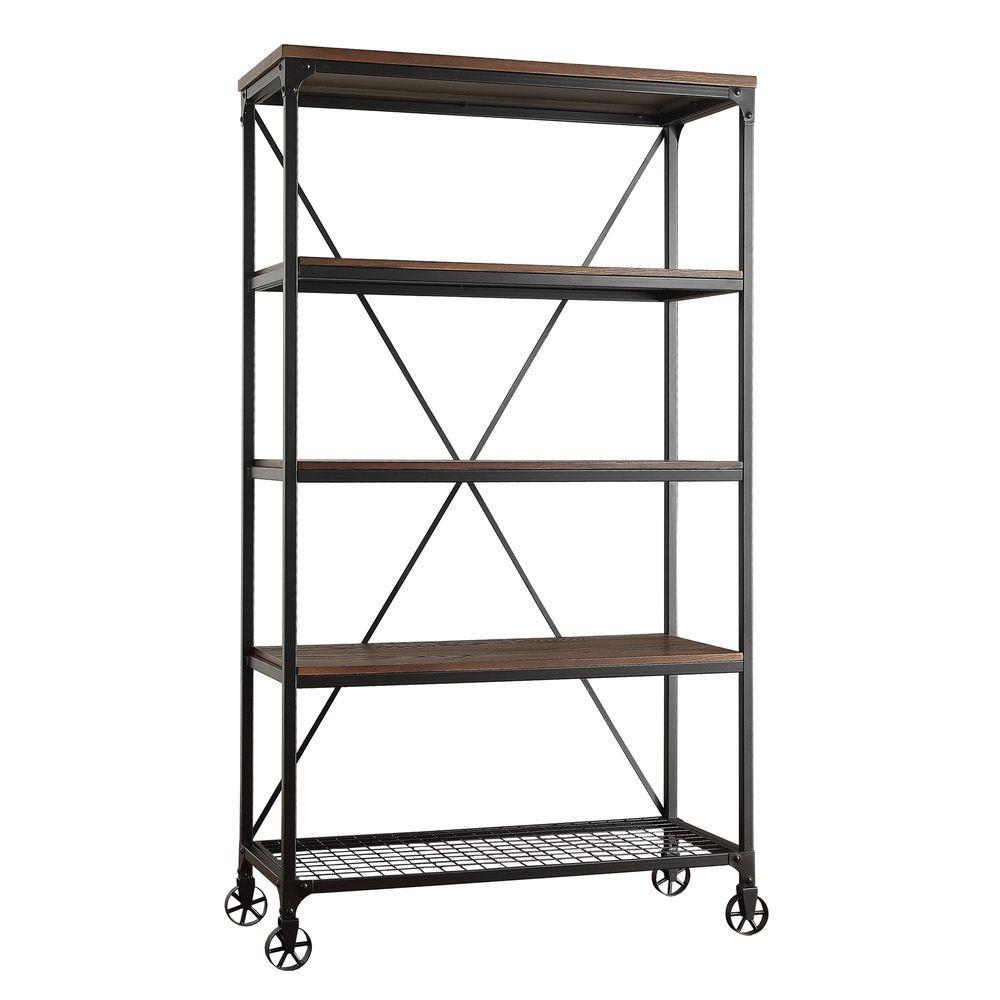Cabella Distressed Ash Open Bookcase