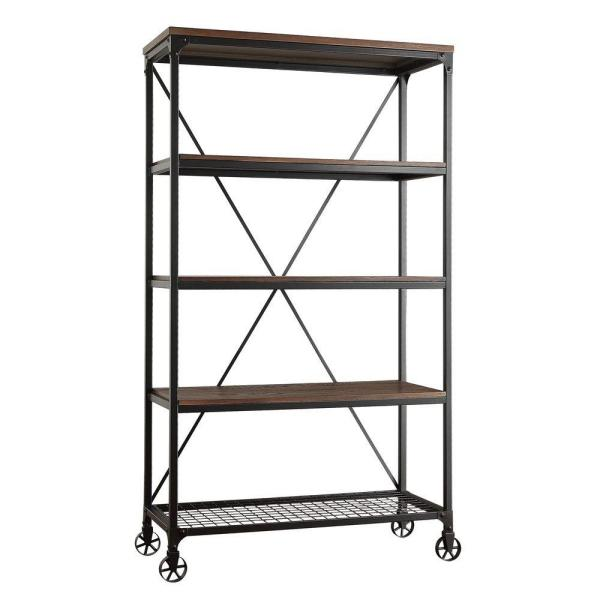 HomeSullivan Cabella Distressed Ash Open Bookcase