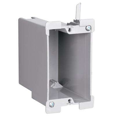 Slater Old Work Plastic 1-Gang Swing Bracket Deep Switch and Outlet Box with Quick/Click