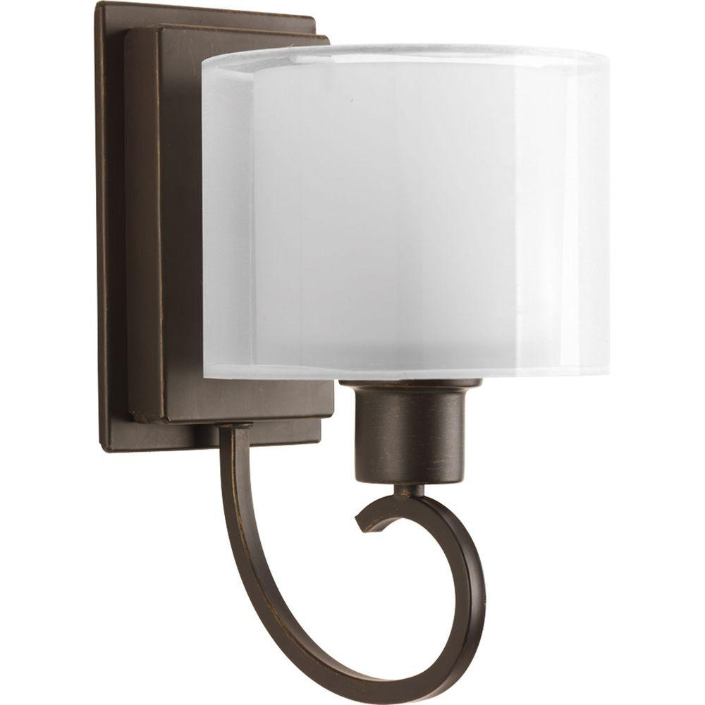 Progress Lighting Invite Collection 1 Light Antique Bronze Wall Sconce