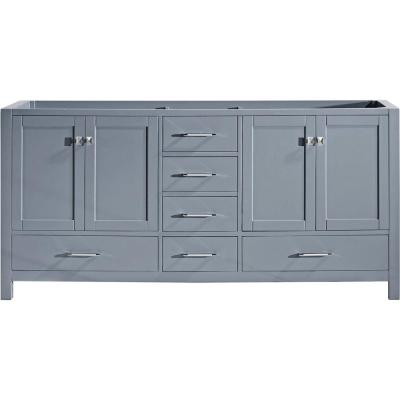Caroline Avenue 72 in. W Bath Vanity Cabinet Only in Gray