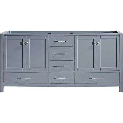 Caroline Avenue 72 in. W x 22 in. D Vanity Cabinet Only in Grey