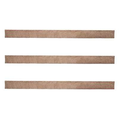 Stacked Stone 3-1/2 in. x 48 in. Desert Sunrise Faux Trim (3-Pack)