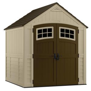 suncast sutton 7 ft 3 in x 7 ft 45 in resin storage shed bms7791 the home depot - Garden Sheds 7 X 9