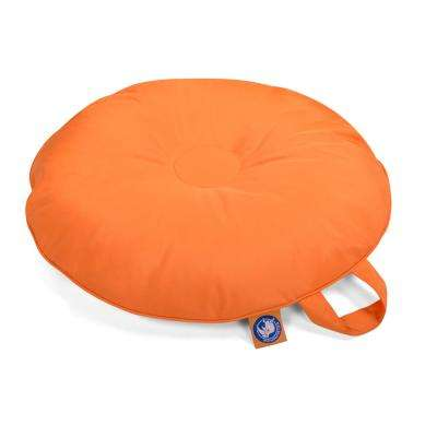 Stratus Grand Island Bean Bag Swimming Pool Float in Orange, Nylon Fabric