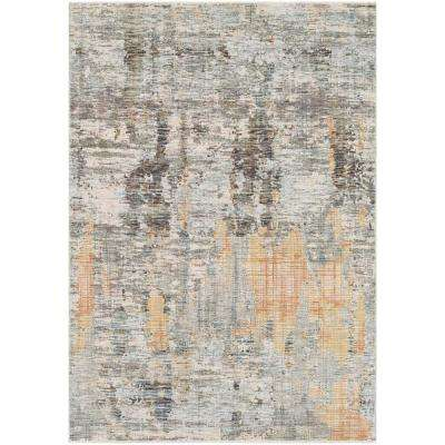 Congressional Peach 7 ft. 10 in. x 10 ft. 3 in. Abstract Area Rug