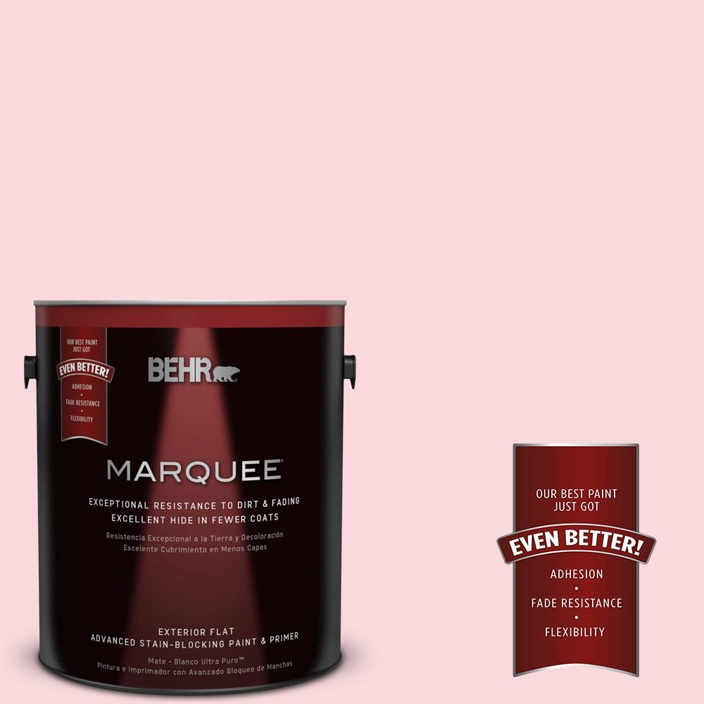 1-gal. #140A-2 Coy Pink Flat Exterior Paint