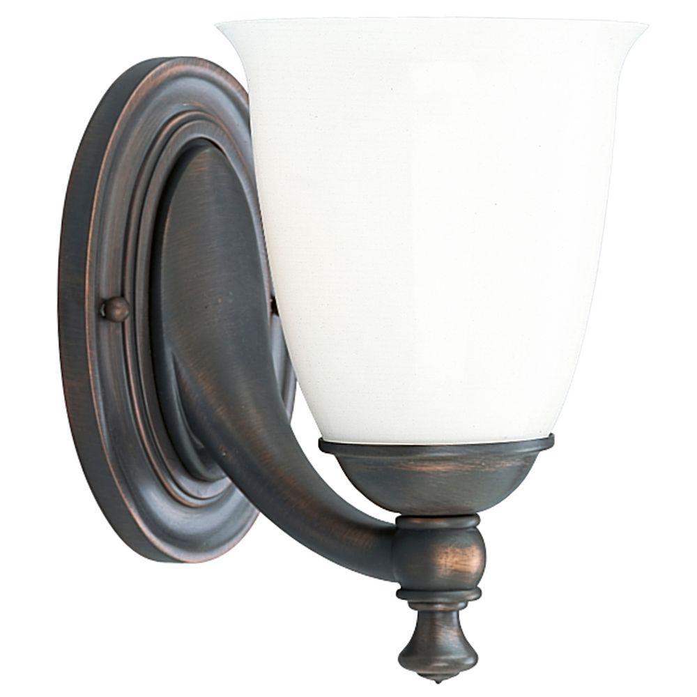 Progress lighting victorian collection 1 light venetian Venetian bronze bathroom light fixtures
