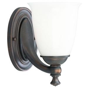 Victorian Collection 1 Light Venetian Bronze Bath Sconce With White Opal Glass Shade Progress Lighting