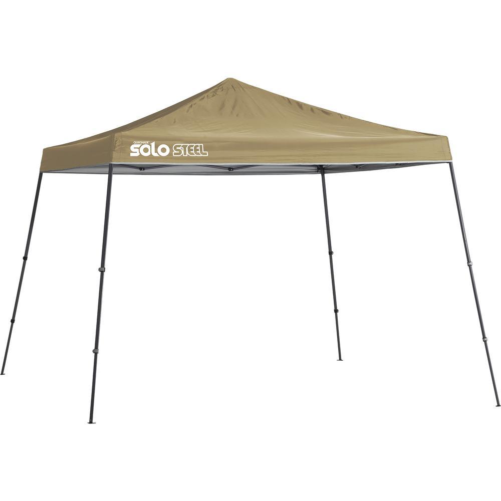 Solo90 11 ft. x 11 ft. Khaki Slant Leg Canopy