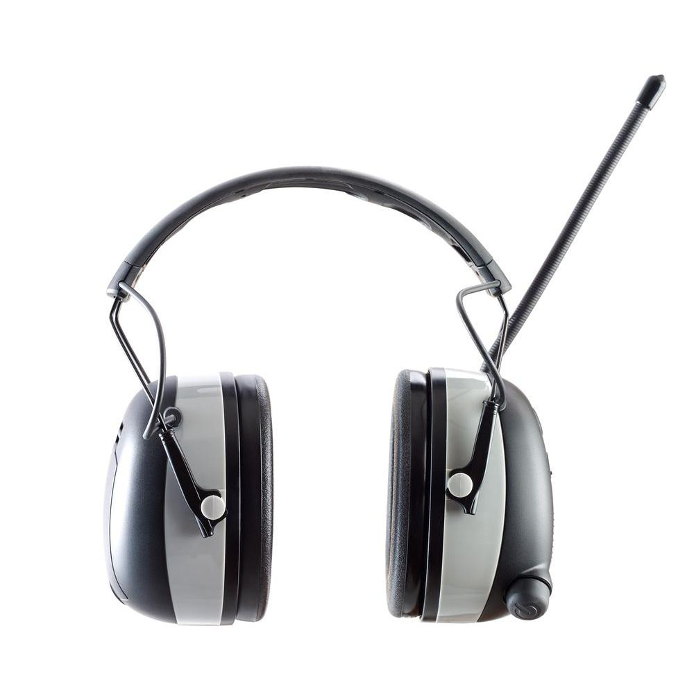 3M WorkTunes Black Wireless Hearing Protector with Bluetooth Technology, Gray