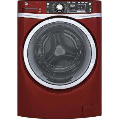 4.9 cu. ft. High-Efficiency Stackable Ruby Red Front Loading Washing Machine with Steam, ENERGY STAR