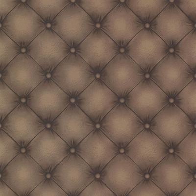 56.4 sq. ft. Chesterfield Chestnut Tufted Leather Wallpaper