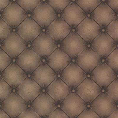 Chesterfield Chestnut Tufted Leather Wallpaper Sample