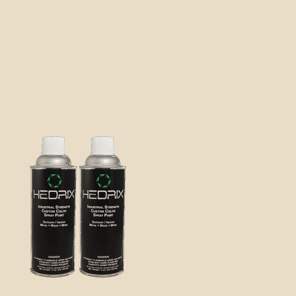 Hedrix 11 oz. Match of W-B-720 Oyster Semi-Gloss Custom Spray Paint (2-Pack)