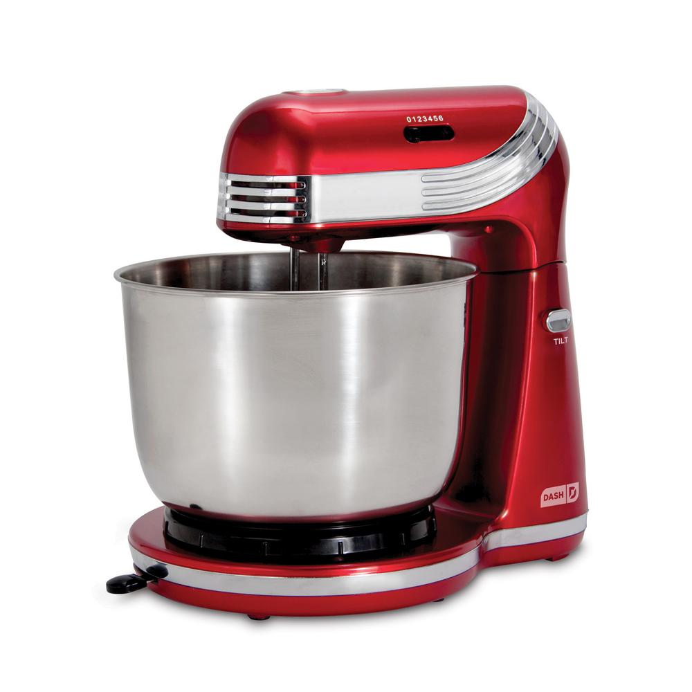 Dash Everyday 3 Qt. Red 6-Speed Stand Mixer