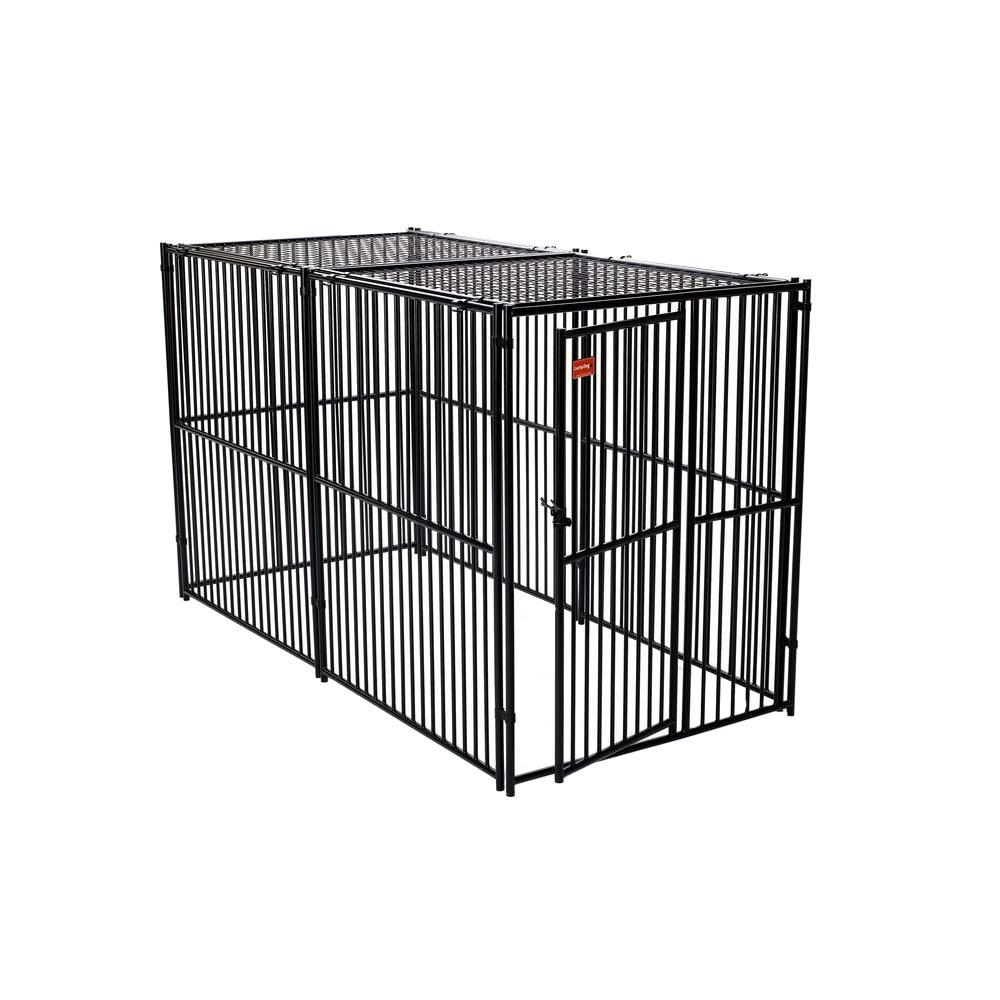 null Lucky Dog 6 ft. H x 5 ft. W x 10 ft. L European Style Kennel with Predator Top