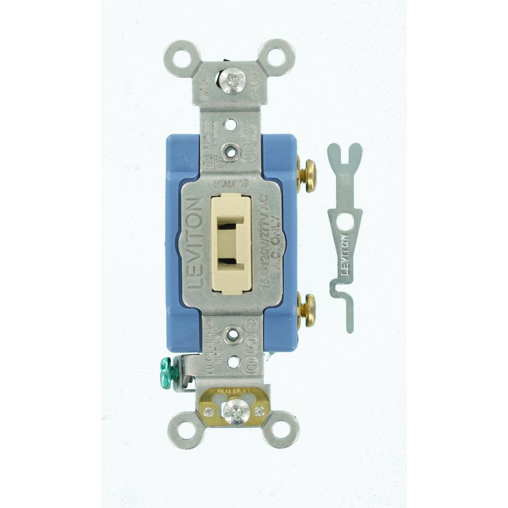 15 Amp Industrial Grade Heavy Duty Single-Pole Locking Switch, Ivory