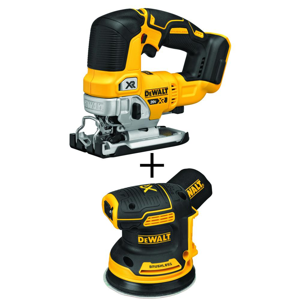 20-Volt MAX Lithium-Ion Brushless Cordless Jigsaw With Bonus Random Orbit Sander