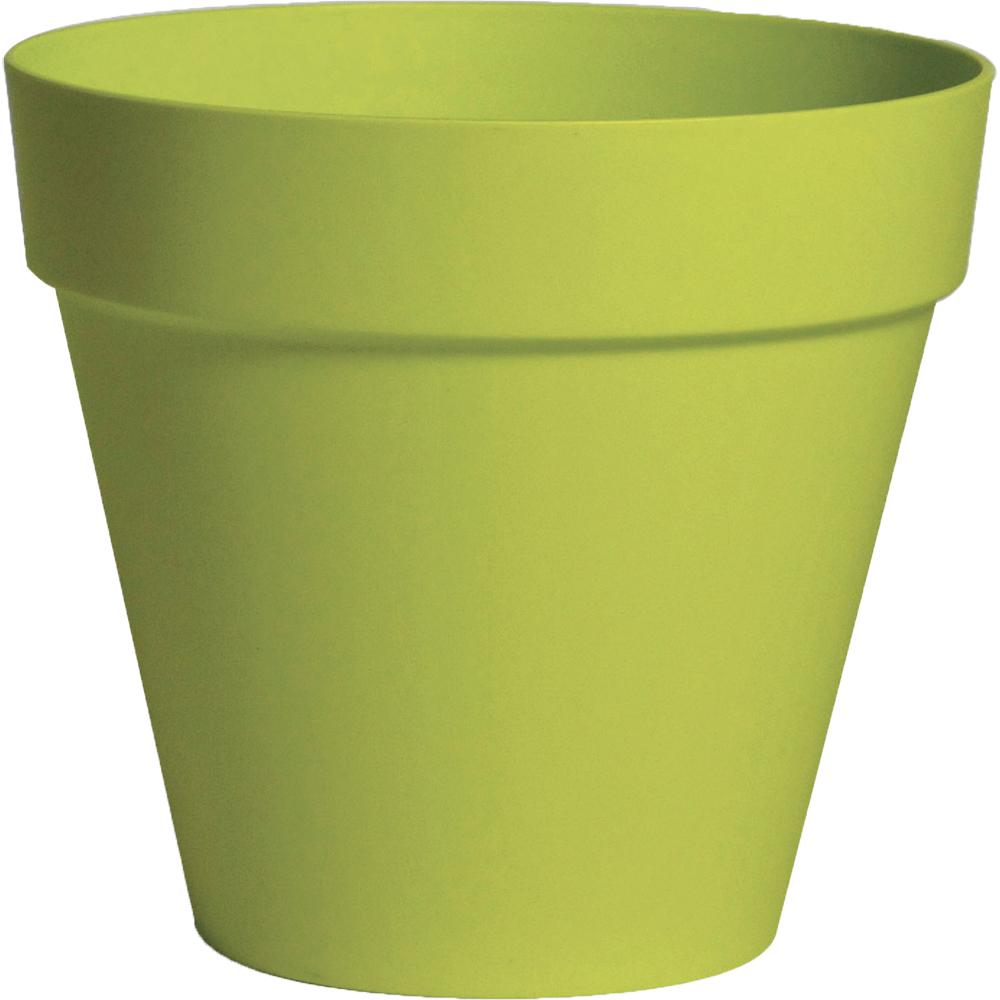 Rio 13.25 in. Dia Green Plastic Planter