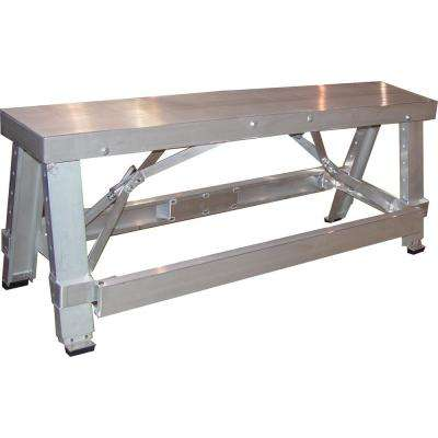 7 in. H x 9.5 in. W x 48 in. D Aluminium Adjustable Contractors Workbench