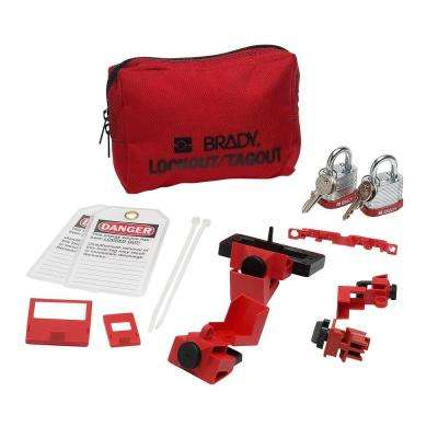 Breaker Lockout Sampler Pouch with Steel Padlocks and Tags