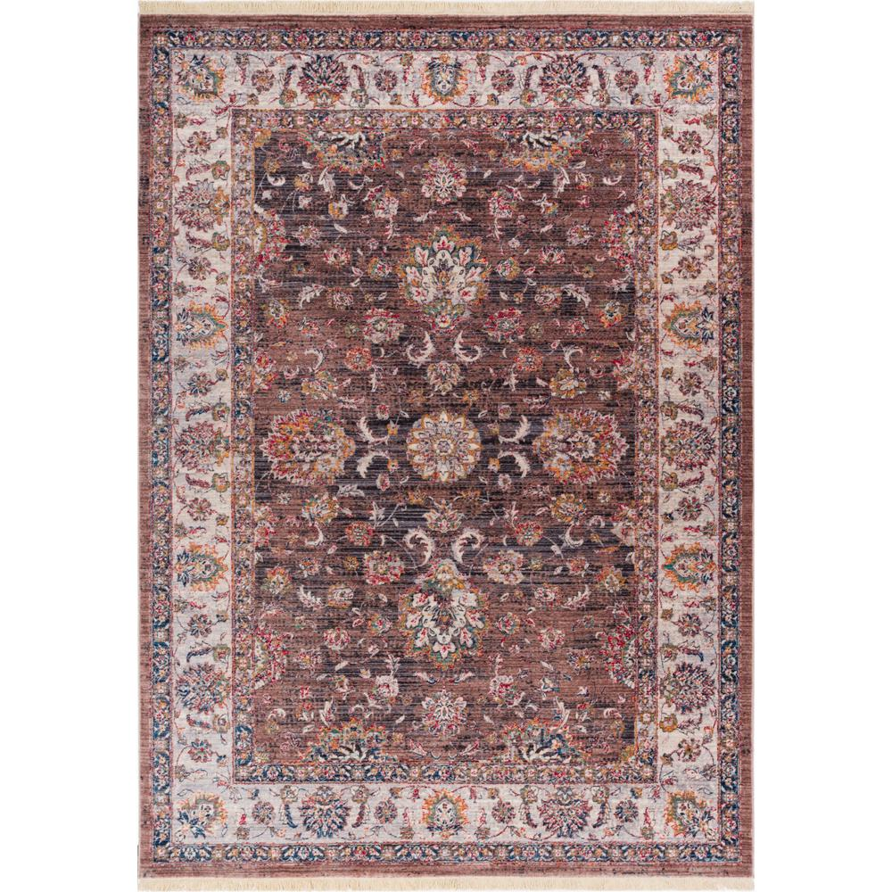Well Woven Global Treasures Earth Brown 3 Ft 11 In X 5