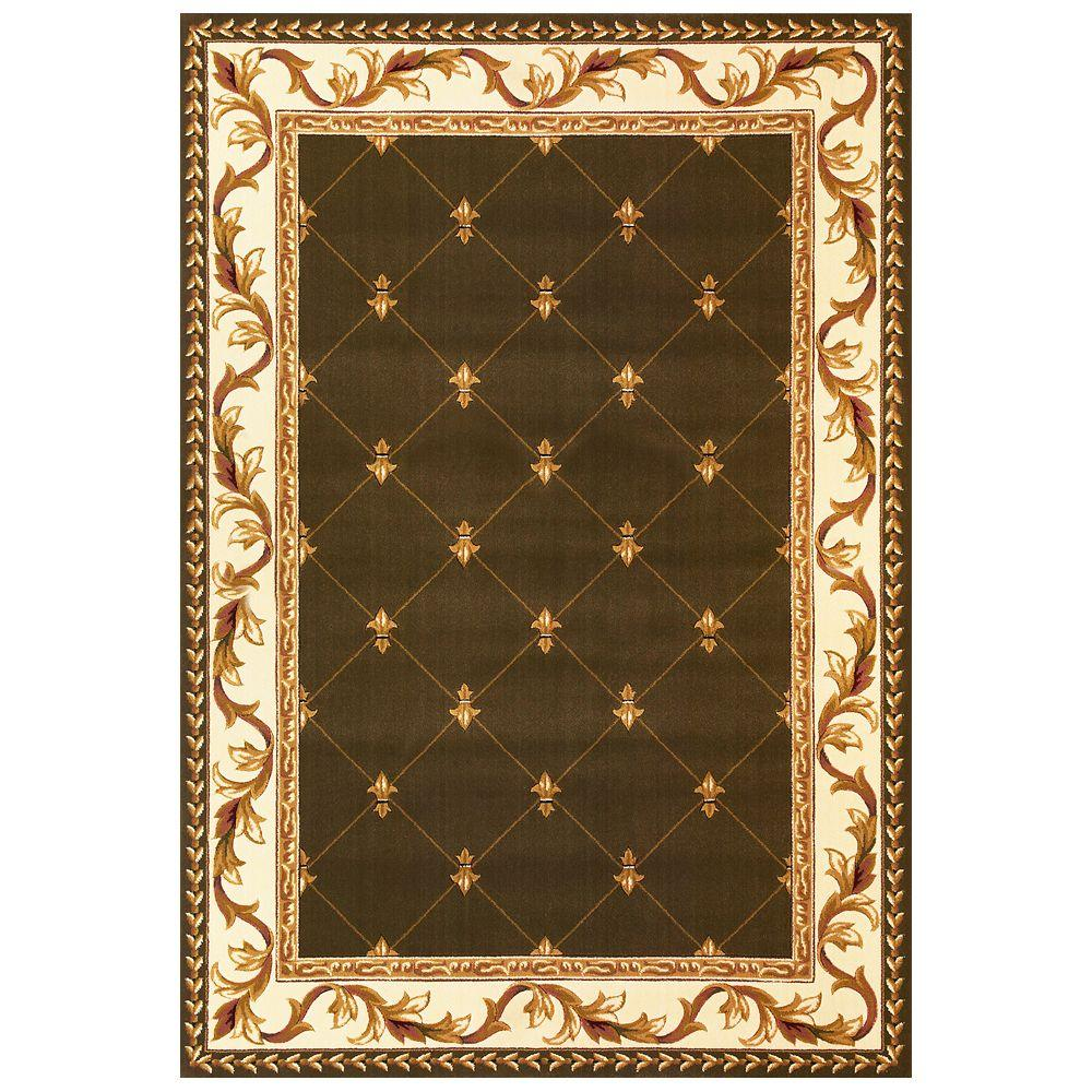 Elegant Traditions Green 3 ft. 3 in. x 4 ft. 11