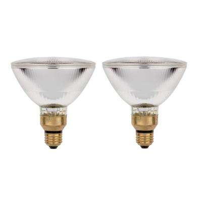 70-Watt Halogen PAR38 Eco-PAR PLUS Clear Flood Medium Base Reflector Light Bulb (2-Pack)