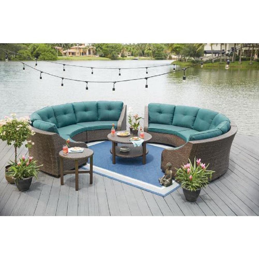 Living Accents Metropolitan Patio Furniture: Hampton Bay Torquay Wicker Outdoor Sofa With Charleston