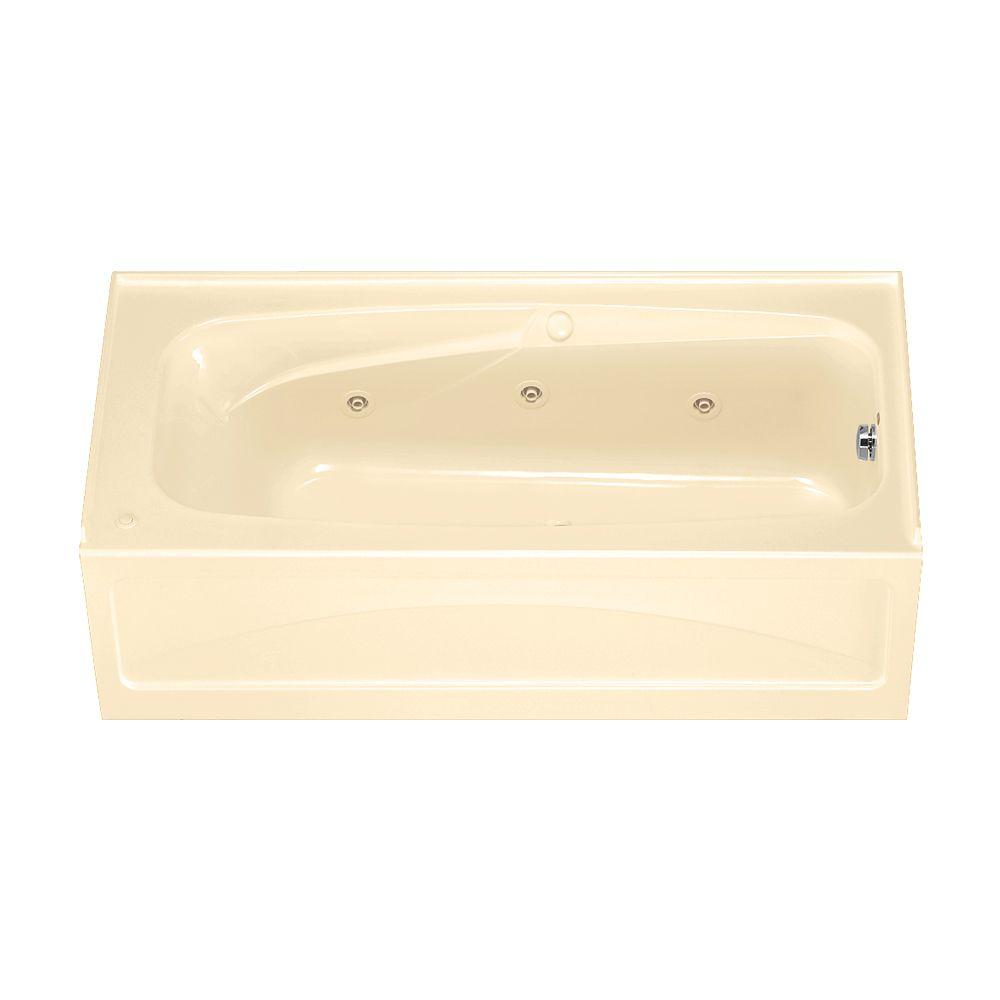 American Standard Colony 5.5 ft. Whirlpool Tub with Right Drain and Integral Apron in Bone