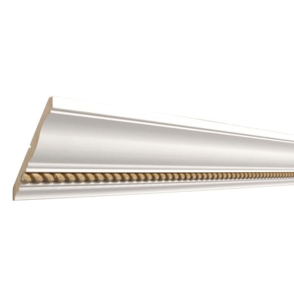 Haute Gold Rope 1/2 in. x 4-1/2 in. x 8 ft. Primed Wood Crown Moulding