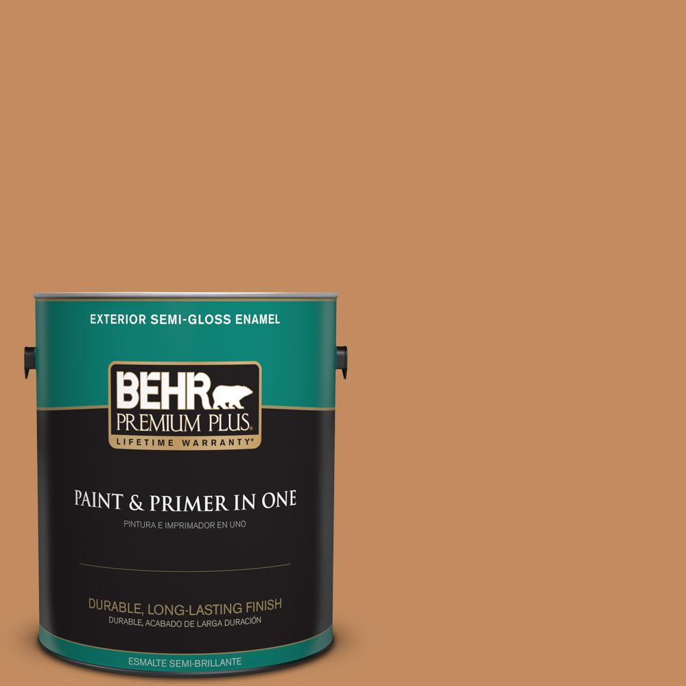 1 gal. #PPU3-13 Glazed Ginger Semi-Gloss Enamel Exterior Paint