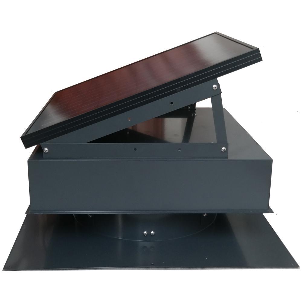 Remington Solar 25-Watt 1420 CFM Gray Solar Powered Attic Fan