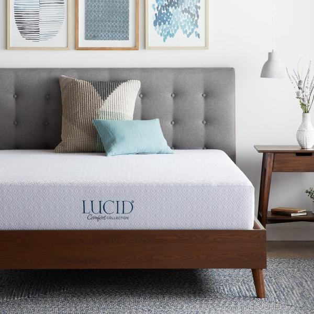 Lucid Comfort Collection 10 in. King Gel Memory Foam Mattress - Plush