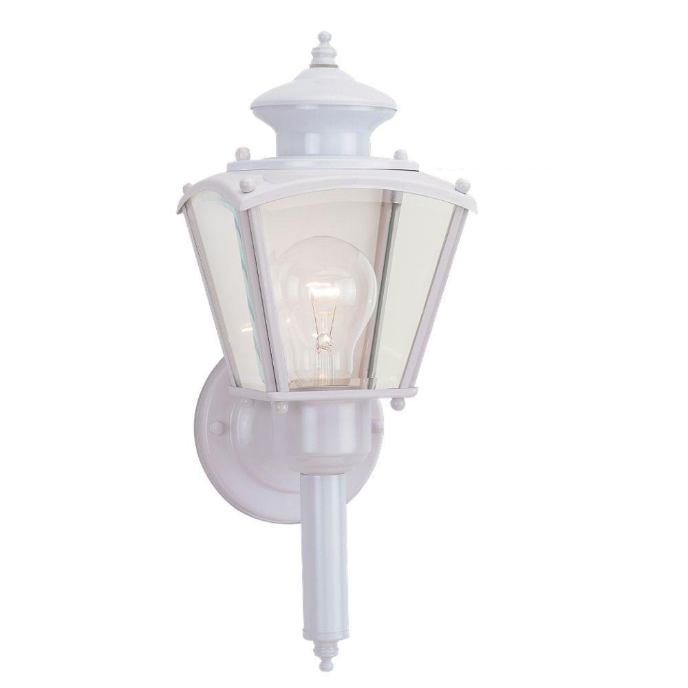 Sea Gull Lighting New Castle 1-Light Outdoor White Fixture