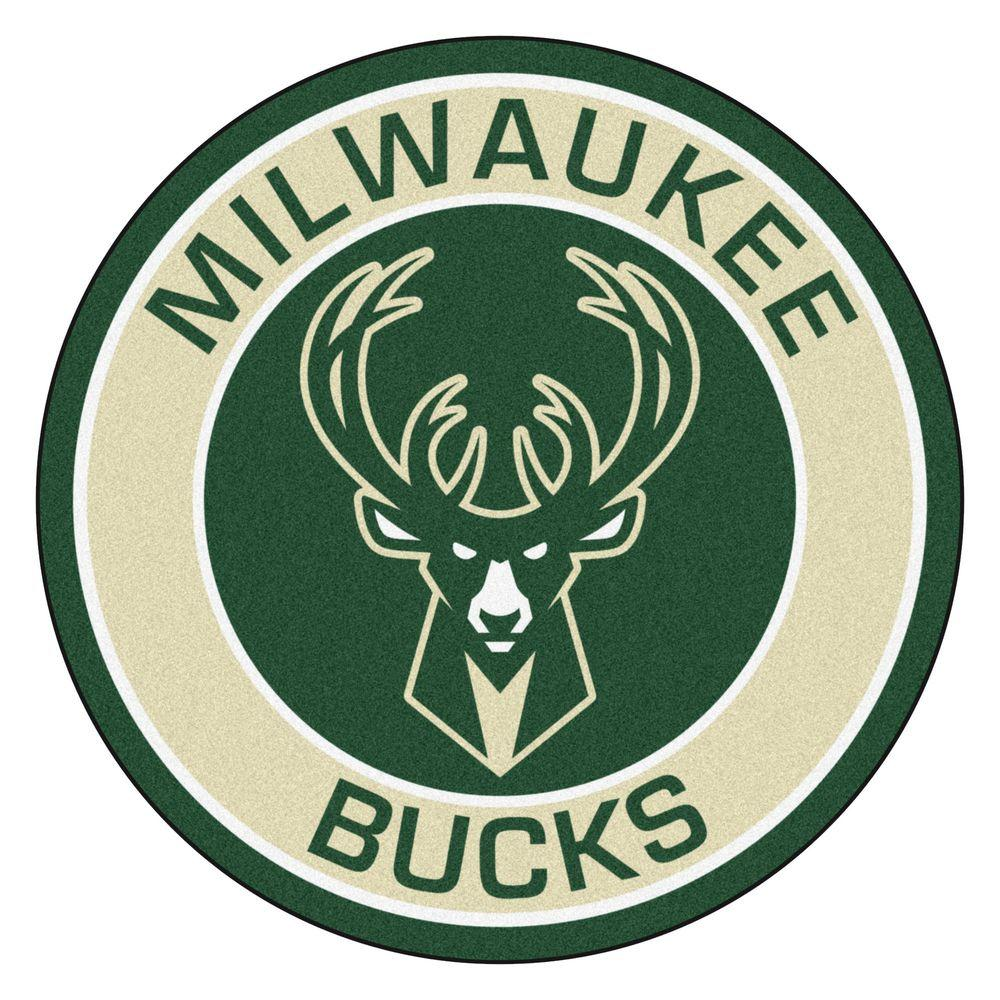 FANMATS NBA Milwaukee Bucks Cream 2 Ft 3 In X