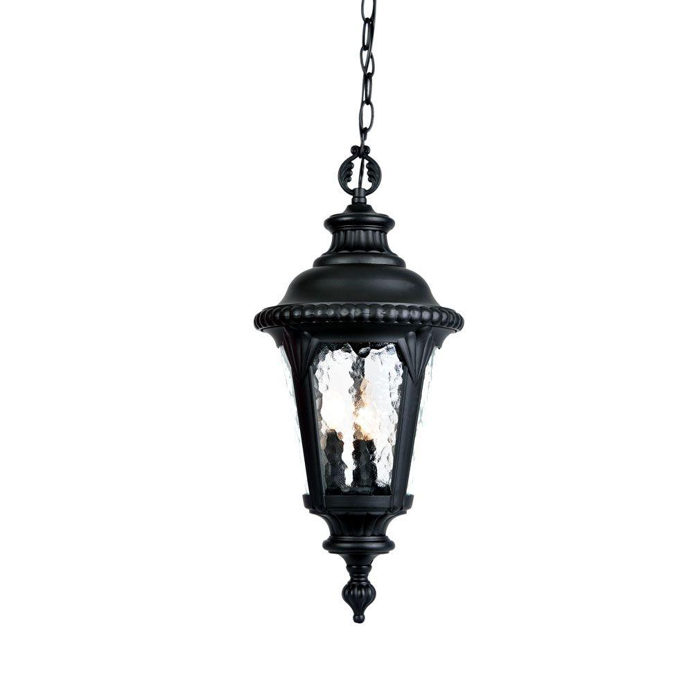 hanging outdoor lights acclaim lighting surrey collection hanging outdoor 3 light 28707